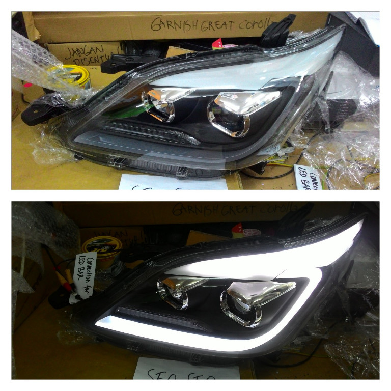 Headlamp Innova GNKI2012- Onward Projector All LED Bar Crystal Black Housing Lexus Style (RTF)