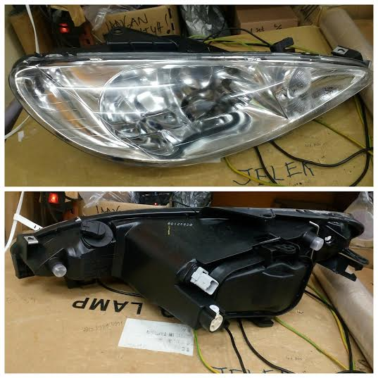 550-1121-LD Headlamp Peugeot 206 98-05 Crystal Chrome  (RTF)