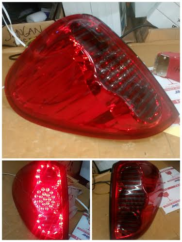 AMB352-B7DE2 Stoplamp Mitsubishi Strada Triton 2006 sd 2014 LED Red Smoke (RTF)