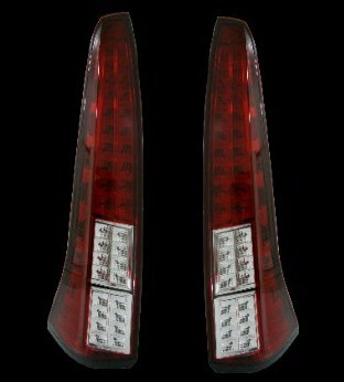 HU552-002J02 Stoplamp Serena C26 Full LED Red Clear Lens Chrome Housing (Rev)