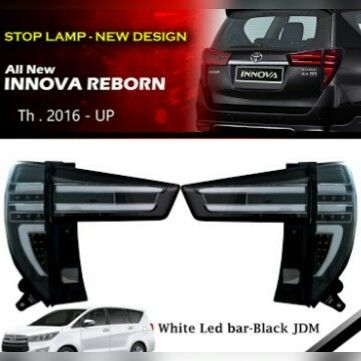 SK1700-TVA-IG Stoplamp Innova Reborn 2016-Onward Black JDM White Strip (Revs)