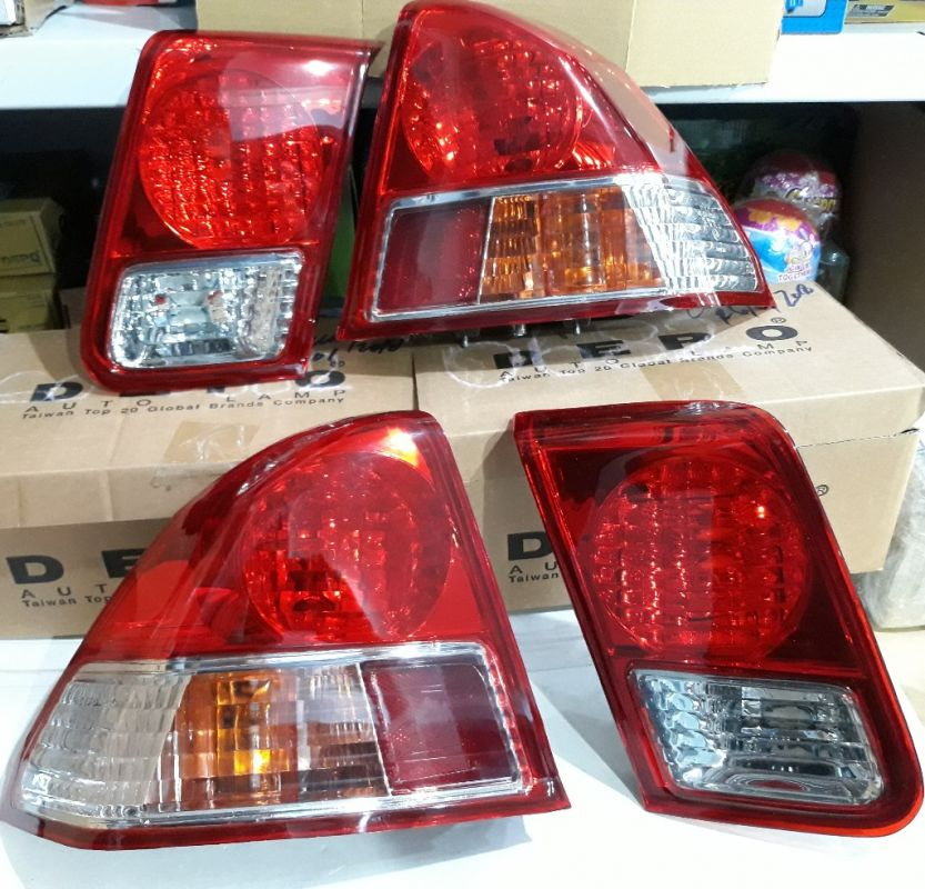 217-1956-AE-Y Stoplamp Civic 2001-2005 Crystal Red Amber Lens with Crystal Red Clear Backlamp (Revs)