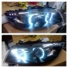 ABM110-B3WC2-WE Headlamp BMW 3 Series E90 05-08 Projector Angel Eyes Crystal Black Housing (Rev)