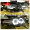 APG077 Headlamp Peugeot 206 98-05 Projector Angel Eyes Crystal Black (RTF)