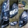 SK3300-TYYA06-3TJM Headlamp Toyota Yaris 05-08 Projector Angel Eyes Crystal Black Housing (Rev)