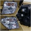 215-11B2-RD-EM Headlamp Nissan Navara 2005-2013 Crystal Chrome (Revs)