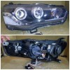 AMB358-B7W2C-BH Headlamp Lancer Evo X Evo Ex 2008-2015 Projector Angel Eyes LED Starline Black (Rev)