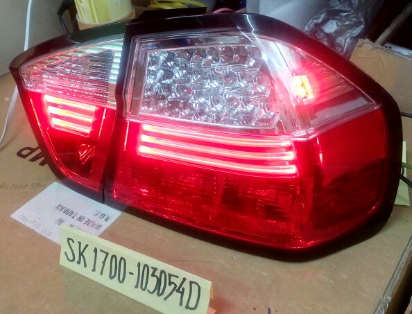 SK1700-1030540 Stoplamp BMW 3 Series E90 th 2006 sd 2011 LED & LED Bar Clear Red (RTF)