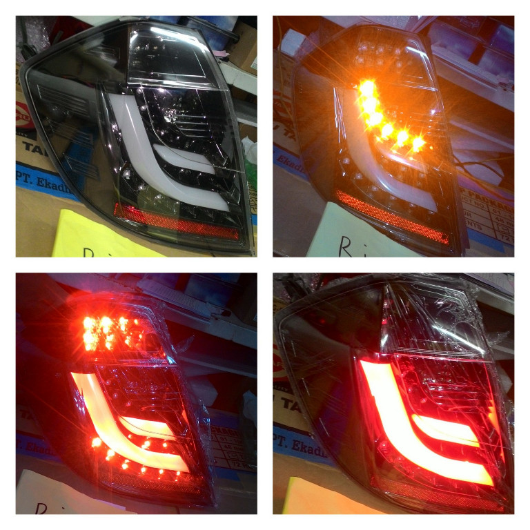 SK1700BMH Stoplamp Honda Jazz GE8 08-14 LED dan LED Bar Black Housing (RTF)