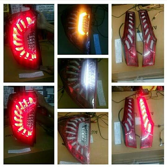 LHGK5ASRA Stoplamp Honda Jazz GK5 2014-Onward LED Axis Style Red Anodise (RTF)