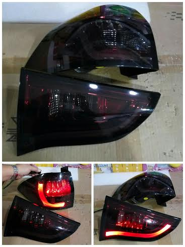 AMB368-B7RR4-BH Stoplamp Pajero Sport 09-14 LED Bar All Smoke Lens Dark Red Housing (RTF)