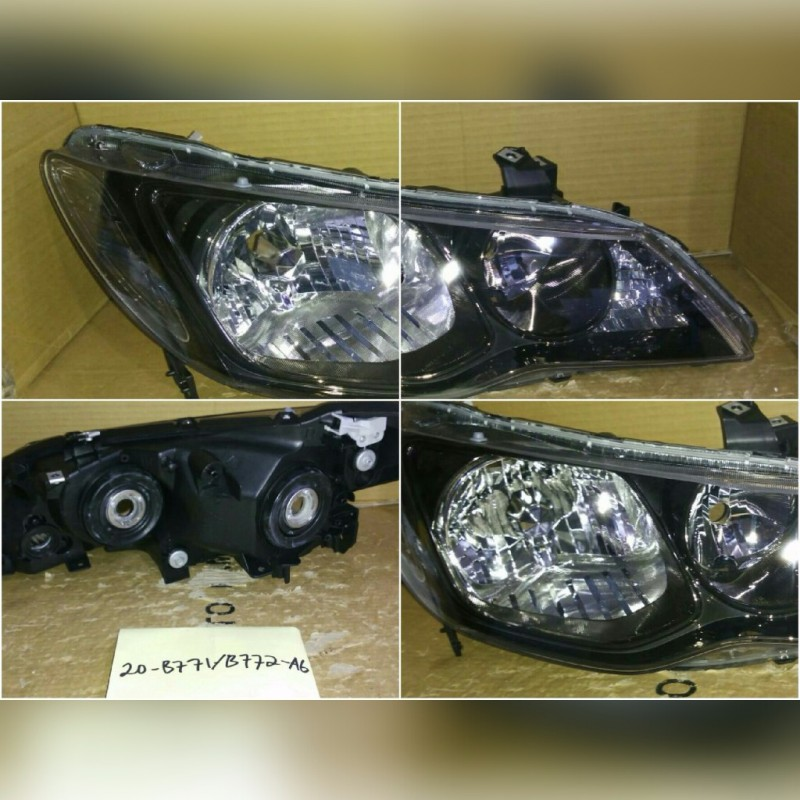 20-B771/B772-A6 Headlamp Civic 06-11 Crystal Black (RTF)