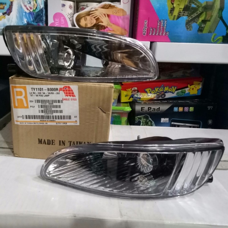 TY1101-B000 Foglamp Lexus RX330 Harrier 2004-2012 Crystal Chrome (Rev)