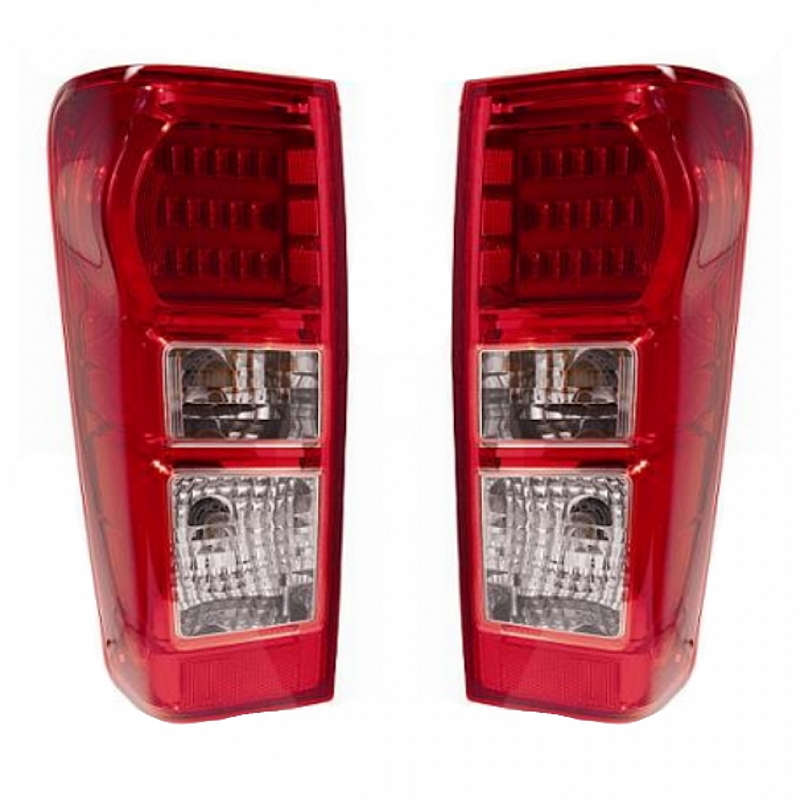 213-1933-UE Stoplamp Dmax 2012-2015 Red Clear Lens