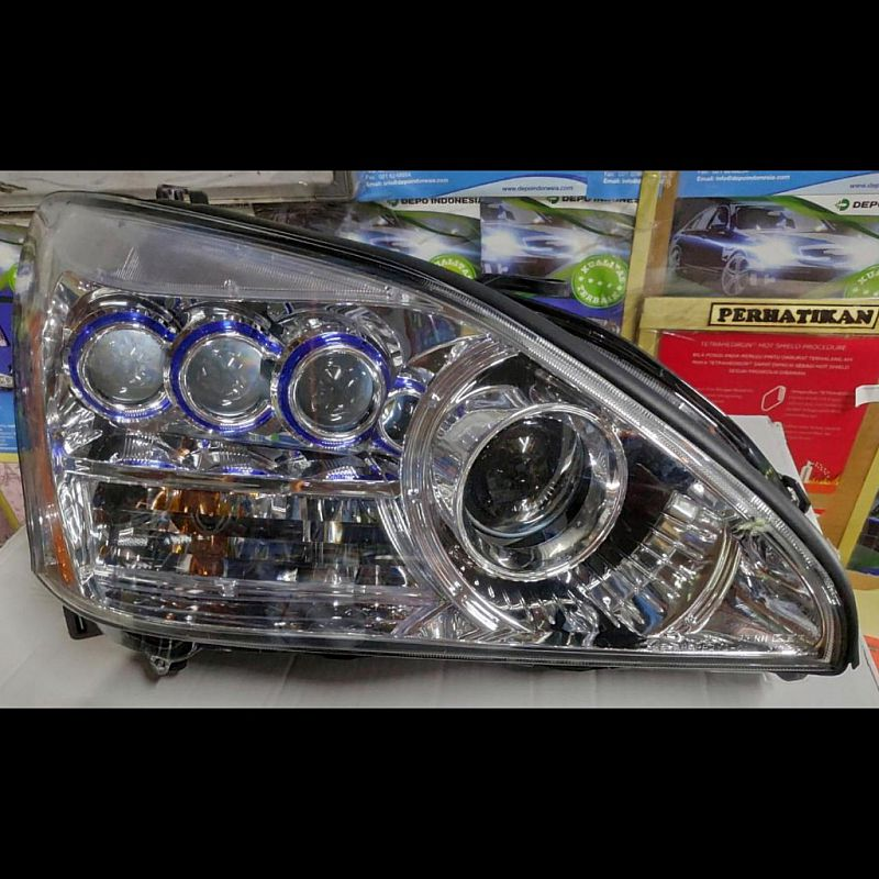 D24-1102P-RDBM1 Headlamp Lexus RX330 2004-2012 Projector Crystal Chrome Housing