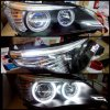 ABM087-A3W2C-1 Headlamp BMW 5 Series E60 03-10 Projector LED Angel Eyes Crystal Black Housing (RTF)