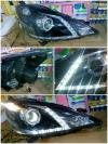 D17-1102P-RDEM2 Headlamp Honda Jazz RS 08-11 LED Projector Crystal Black (Rev)