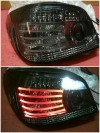 ABM079-B0SE2-3V Stoplamp BMW E60 03-08 LED Lines Crystal All Smoke Lens (RTF)