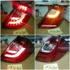 SK1700CRH Stoplamp Honda Jazz GE8 08-14 LED dan LED Bar Sequential Sign Clear Red (Revs)