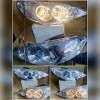 APG077-B0B2H Headlamp Peugeot 206 98-05 Projector Angel Eyes Crystal Chrome (RTF)
