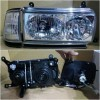 212-1173PXRDEA2 Headlamp Landcruiser FJ82 90-97 Crystal Chrome (KACA) with Corner Lamp (Revs)