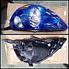 317-1151-US3 Headlamp Honda Jazz 2002-2007 Crystal with Vivid Blue Housing (Revs)