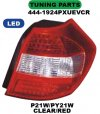 444-1924PXUEVCR Stoplamp BMW 1 Series E87 04-07 LED Crystal Clear Red (RTF)