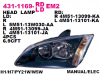 431-1169-RDEM2 Headlamp Ford Focus 05-08 Crystal Black Housing (Rev)